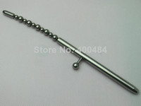 Male Chastiy Belt Catheters & Sounds Detachable Stainless Steel Urethral Sounds Plug Catheter Blocking Beads Gear Masturbation Male Chastity Devices Sex Toy YC-UP001