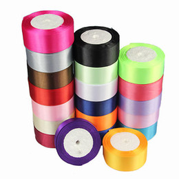 Wholesale 125 Yards Reel Of mm Single Sided Satin Ribbon Select Candy wedding Value color you can choose