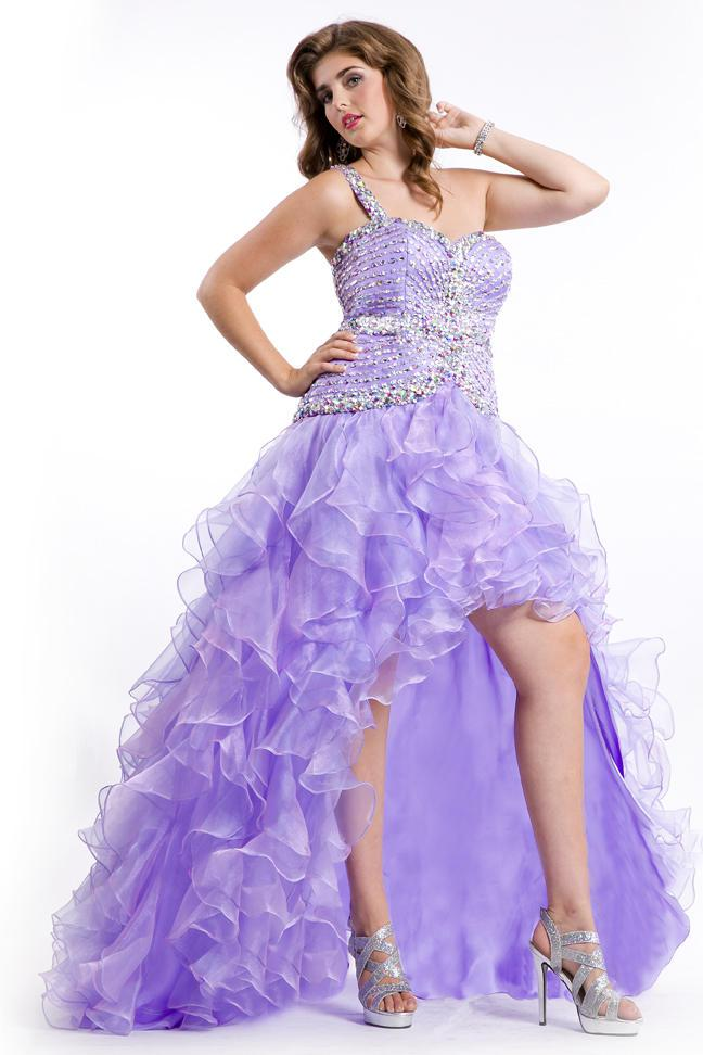 plus size high low prom dresses 2014
