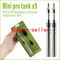 Single   MINI X9 Protank EVOD Battery Blister Pack Electronic Cigarette Starter Kit, Mini X9 Cartomizer Atomizer+ Evod Battery 650mah 900mah 1100mah