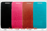 For HTC Leather  100pcs lot Microfiber Ultra Thin Flip Luxury Wallet PU Leather Case For HTC One Max T6 8088 free shipping