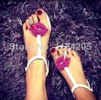 Wholesale Women Sandals Shoes Kiss Fashion Slippers Women s Flat Shoes COLOR Black