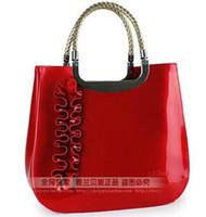 Wholesale Bags female patent leather handbag red bridal bag one shoulder cross body handbag totes bags