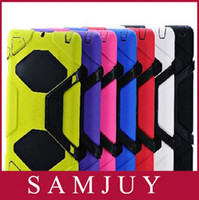 Wholesale Freeshipping Fashion Military Extreme Heavy Duty WATERPROOF SHOCKPROOF DEFENDER CASE WITH STAND Case Cover For ipad
