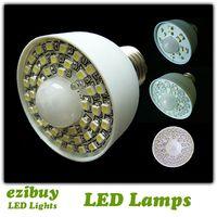 Wholesale 15leds leds leds leds leds LED motion sensor light sensor lamp sensor bulb AC85V V E27 base DHL