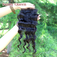 Brazilian Hair Natural Color Straight 100% Human Hair Silk Base Closure Brazilian Mongolian Malaysian Brazilian Peruvian Loose Wave Grade 5A Three Type Closure Free Shipping