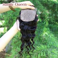 Brazilian Hair Natural Color Straight Silk Base Closure Brazilian virgin Hair 100% Human Hair Wigs Loose Wave Grade 6A 1pcs Free Free part closure Free Shipping