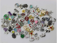Lockets Celtic Women's Wholesale - 100pcs floating locket charms mixed styles floating charms for glass memory living floating locket pendant
