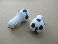 Wholesale 1500mah Soccer Ball World Cup USB Car Charger Brazil World Cup for iphone s Galaxy s3 s4 s5 note
