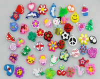5-7 Years Multicolor Plastic 500pcs lot Mixed girl Assortment Charms for Rainbow Loom Bracelets small pendant styles mixed