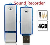 Less than 2'' Less than 10x 1080P (Full-HD) Hot Mini Voice Recorder 4GB USB Digital Audio Voice Sound Recorder Dictaphone Flash Drive Disk