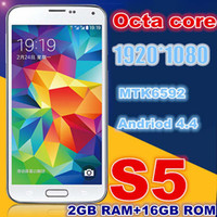"Cheap I9600 S5 Octa Core MTK6592 Cell Phone 5.1"" FHD 1920*1080 px screen Real 2GB 16GB Android 4.4 kitkat 3G Unlocked Mobile Phone G900F SM-G900"