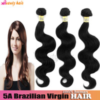 Brazilian Hair Body Wave hair queen hair products Brazilian Virgin Body Wave Beauty Hair Bundles 100g 100% True Natural Human Hair Extension Cheap High Quality Real Rosa Bella Hair Weft