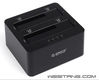 Wholesale ORICO SUS3 C USB3 eSATA to Dual in SATA Hard Drive SSD Docking Station SSD and HDD