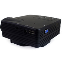 Wholesale Free DHL LZ H80 Lumens LCD Portable Mini Projector x Pixels Support P with AV USB VGA HDMI SD Card Slot