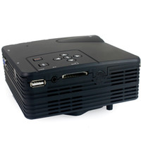 lumens - Free DHL LZ H80 LZ H80 Lumens LCD Portable Mini Projector x Pixels Support P with AV USB VGA HDMI SD Card Slot