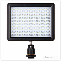 Wholesale W160 LED Video Light Lamp W LM K KDimmable for Canon Nikon Pentax DSLR Camera Camcorder