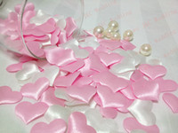 Wholesale Pink and White Wedding Decoration Hearts DIY Party Decoration Fabric Heart JCO H02
