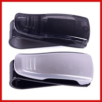 Lip Balm   Wholesale-FactoryPrice New Car Visor Glasses Sunglasses Card Ticket Holder Clip Black Silver Save up to 50%