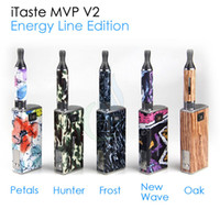 Black mvp v2 - Original Innokin Itaste MVP V2 Energy Line Edition variable voltage woltage electronic cigarette Starter Kit VV VW iclear B atomizer kits