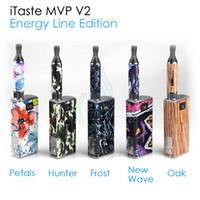 Single mvp v2 - Original Innokin Itaste MVP V2 Energy Line Edition variable voltage woltage electronic cigarette Starter Kit VV VW iclear B atomizer kits