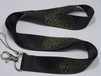 Wholesale Boys Black Star Wars key lanyard cartoon mobile neck strap