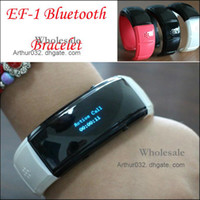 Wholesale Trendy Style EF Bluetooth Vibrating Smart Bracelet Watch for Andrews Phone Time Display Caller ID Distance Vibration Support Earphone MP3