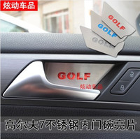 Wholesale 2014 Volkswagen golf MK High quality stainless steel Car interior door handle cover kuga handle sticker