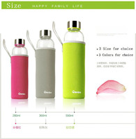 Glass bottle water bottle - hot sell Outdoor sports cup Insulated glass water bottle Advertising Cupm Creative Glass cup