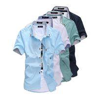 Wholesale 2016 Hot Sale New Mens Shirts Casual Slim Fit Stylish Mens Dress Shirts Short Sleeve Shirts