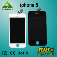 For Apple iPhone Touch Screen  A+ LCD Display & Touch Digitizer Complete Screen with Frame Full Assembly Replacement for iPhone 5 5G with Earpiece Anti-dust Mesh Instal