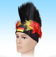 Wholesale 2014 brazil world cup soccer fans wig sheath German headband wig cap soccer souvenir