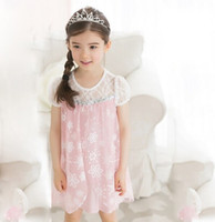 Baby frozen dress girl Dress new 2014 girls Ice and snow chi...