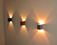 Wholesale Modern Design Wall Llight LED wall lamp hall Porch Corridor lamp light Warm white Red Blue up down LED Light