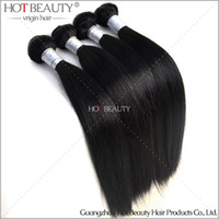 Wholesale A Peruvian Virgin Hair Silky Straight Unprocessed Human Hair Weave Extensions