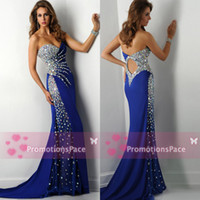 Reference Images artificial diamond making - Luxury Sheath Keyhole Mermaid Pageant Dresses Beading Artificial Diamond Sexy Prom Empire Waist Evening Gowns Beach Party Dresses Hot RO2429