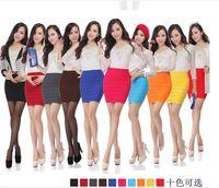 Cotton mini plaid skirt - Colorful Wide Striped Skirts High Waist Pleated Dress Short Skirt Fashion Casual Skirt Female Summer Mini Slim Skirt A Line Dress