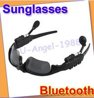 Wholesale Gift Idea Bluetooth Sunglasses Headset headphone Sun Glass black