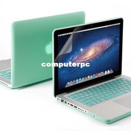 Wholesale Al por mayor nave de EE UU NUEVO en caso de la cubierta de goma dura para el Macbook Protector de Pantalla Pro Keyboard Protector Al por mayor