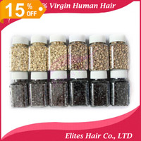 Wholesale Micro Ring Loop Link Beads Silicone Beads Feather Hair Extension Tools HKPOST FET801