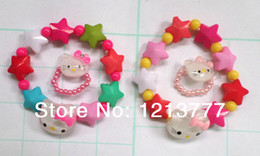 Wholesale New Pack Plastic Baby Jewelry Cheap Child Girl Kids Jewellery Sets Hello Kitty Bead Necklace Ring Sets