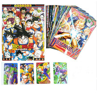 Wholesale Anime Cartoon Dragon Ball Postcard one set Greeting Cards Kids Friends Birthday Christmas Gift
