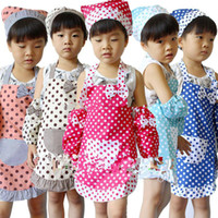 Wholesale Stock Colorful Cotton Polka Dots Children Kids Apron Only