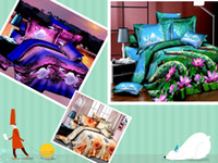 100% Cotton other Knitted 2014 Fashion 3sets lot New SUNA Home Textile 3D Duvet Cover Sets Linens Bed in a Bag Comforter Sets Bedclothes Bed Fedex Free shipping