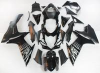 Precio de Suzuki gsxr750 fairing-Carenados para Suzuki GSXR600 GSXR750 11 12 13 14 K11 ABS Motorcycle carenado Kit de Carrocería Moto Carenado Sportbike Negro Plata Rayas Nuevo