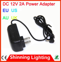 AC 100-240V au power cord - DC V A LED Power Supply Charger Transformer Adapter V A V V to V For RGB LED Strip EU US AU UK Cord Plug Socket