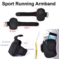 Wholesale Universal Inch Sport Gym Running Zipper Arm Band Armband Mobile Phone Bag Pouch Case For iphone S S C Card Power Bank