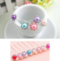 Wholesale 50 Wedding Bridal Pearl Flower Crystal Hair Pins Clips Bridesmaid