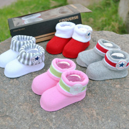 Wholesale CON ERSE Five Star BABY INFANT Boys Girls CRIB SHOES BOOTIES SOCKS boot socks Infant Shoe Socks M