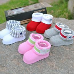 Wholesale CON ERSE Five Star BABY INFANT Boys Girls CRIB SHOES BOOTIES SOCKS boot socks Infant Shoe Socks M